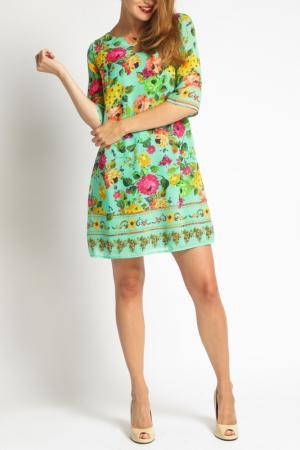 Платье Duse. Цвет: green multicolor