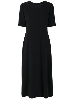Расклешенное платье-футболка Aspesi. Цвет: чёрный