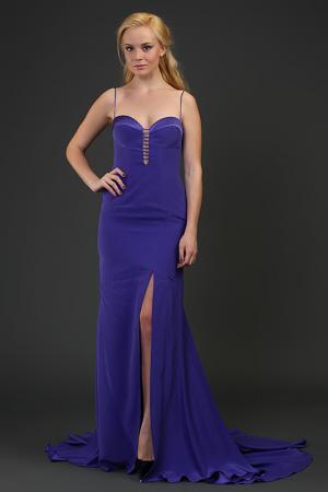 Платье вечернее Dina Bar-El. Цвет: голубой