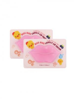 Набор патчей для губ KISS KISS, 2*10г Tony Moly. Цвет: розовый