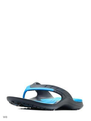 Шлепанцы CROCS. Цвет: темно-синий, голубой
