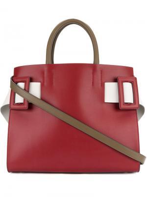 Большая сумка-тоут East West Marni. Цвет: красный
