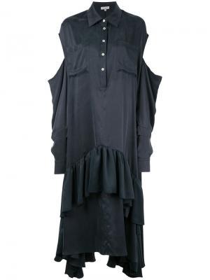 Платье-кафтан с вырезами на плечах Natasha Zinko. Цвет: чёрный