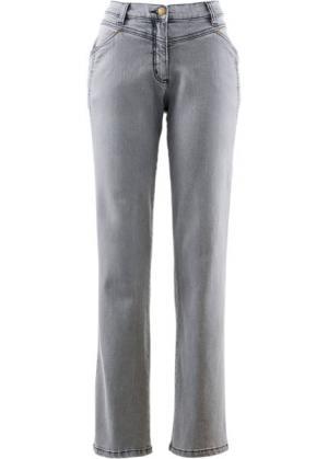 Комфортные джинсы стретч, высокий рост (L) (серый деним) bonprix. Цвет: серый деним