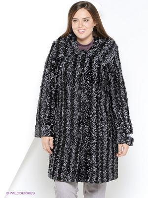 Пальто утепленное Socrat. Цвет: темно-серый
