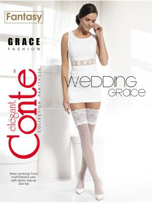 Чулки Conte GRACE Elegant. Цвет: белый