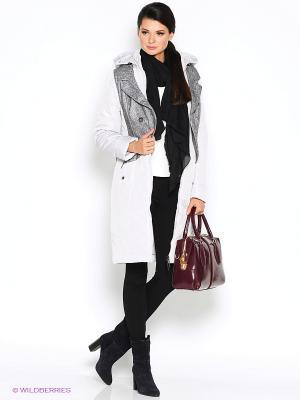 Пальто D`imma. Цвет: светло-серый