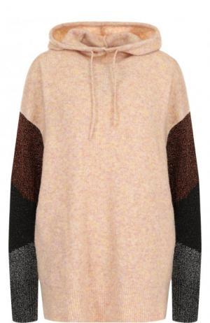 Вязаная толстовка свободного кроя с капюшоном By Malene Birger. Цвет: розовый
