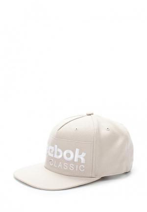 Бейсболка Reebok Classics. Цвет: бежевый