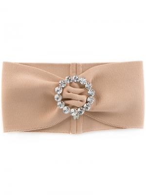 Embellished headband Alessandra Rich. Цвет: телесный