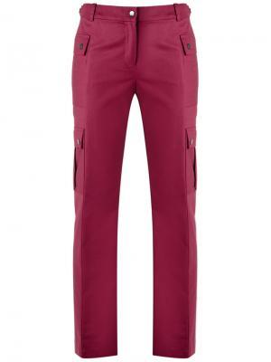 Straight trousers Reinaldo Lourenço. Цвет: розовый и фиолетовый