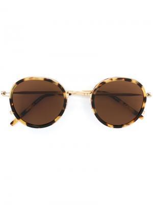 Солнцезащитные очки Tomas Maier. Цвет: коричневый