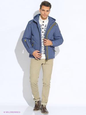 Куртка мужская COLD WIND IS MIRAGE. Цвет: голубой