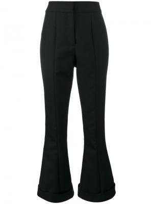 Расклешенные брюки с завышенной талией заворотами Jacquemus. Цвет: чёрный