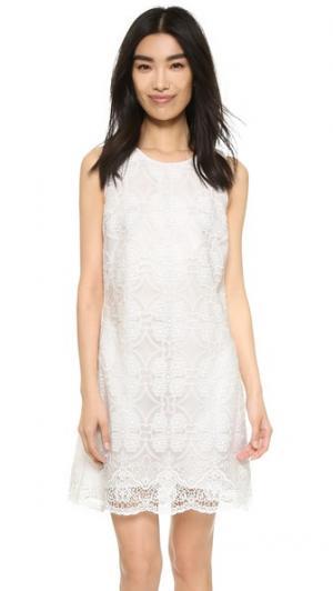 Мини-платье с вышивкой Ali & Jay. Цвет: белый