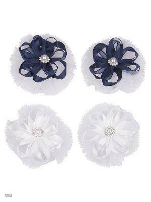 Набор аксессуаров для волос Baby Steen. Цвет: синий, белый