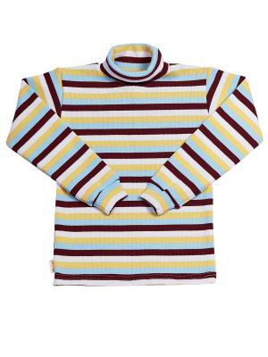 Водолазка с начесом МИКИТА. Цвет: бордовый, голубой, желтый, белый