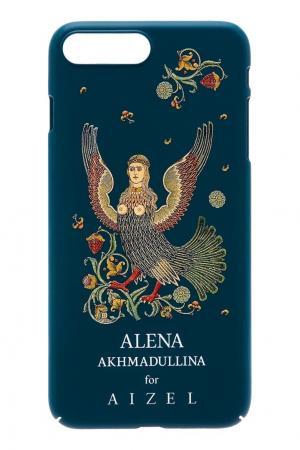 Зеленый чехол для iPhone 7/8 Plus by Alena Akhmadullina Russian Essentials. Цвет: зеленый