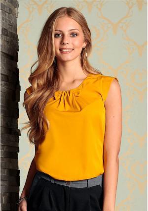 Блузка Y.O.U.. Цвет: горчичный