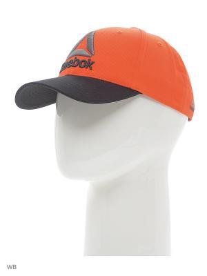 Бейсболка OS BASEBALL CAP  CAROTE/BLACK Reebok. Цвет: оранжевый, черный