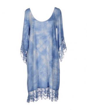Короткое платье MONICA •LENDINEZ. Цвет: пастельно-синий