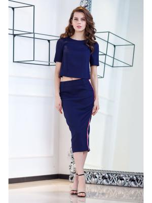Блузка RUXARA. Цвет: темно-синий