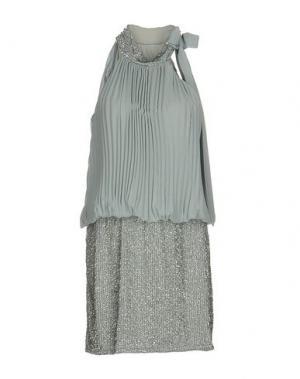 Короткое платье MUSANI COUTURE. Цвет: светло-серый