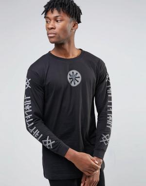 Long Clothing Лонгслив с принтом X Deathface. Цвет: черный
