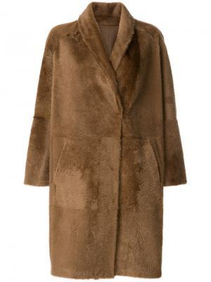 Oversized mid-length coat Sprung Frères. Цвет: коричневый