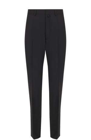 Шерстяные брюки прямого кроя Lanvin. Цвет: черный