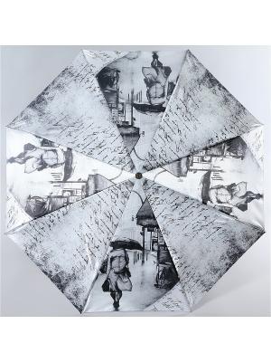 Зонт Trust. Цвет: серый меланж, белый, черный