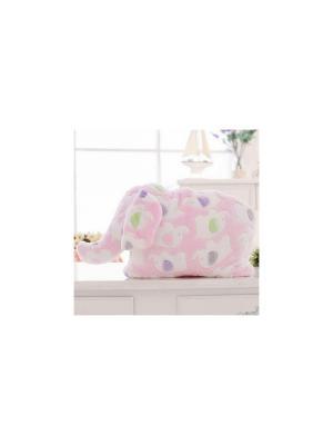 Плед-трансформер Слоненок (розовый) Kawaii Factory. Цвет: розовый