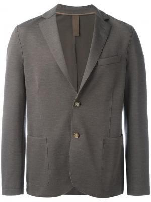 Пиджак с накладными карманами Eleventy. Цвет: коричневый