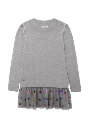 Платье Boboli. Цвет: серый