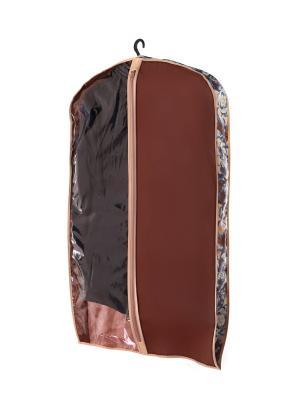 Чехол объемный для одежды малый Прованс COFRET. Цвет: бежевый, коричневый, голубой