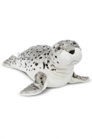 Мягкая игрушка Морской котик Melissa & Doug. Цвет: белый, серый