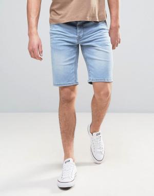 Only & Sons Джинсовые шорты слим. Цвет: синий