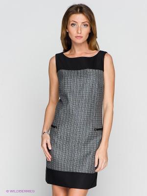 Платье BOVONA. Цвет: черный, кремовый