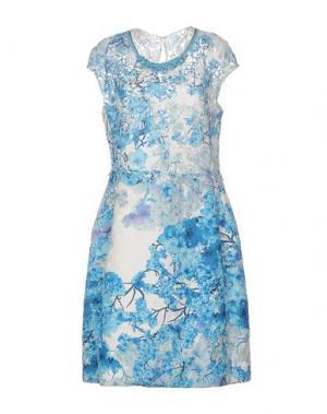 Платье до колена CLIPS. Цвет: лазурный