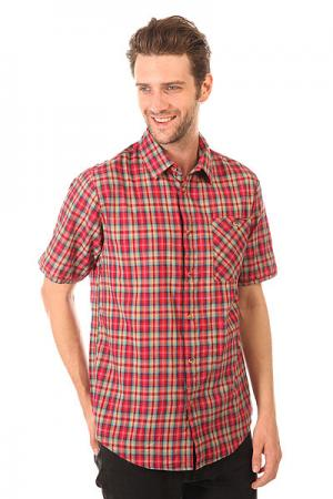 Рубашка в клетку  Civen Woven Cardinal Altamont. Цвет: красный