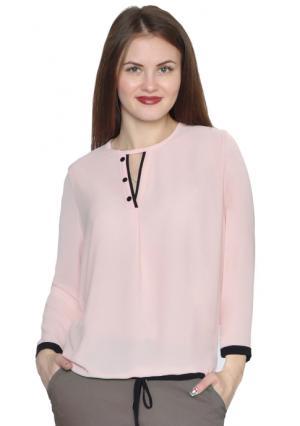 Блузка Rise. Цвет: розовый (бледно-розовый)