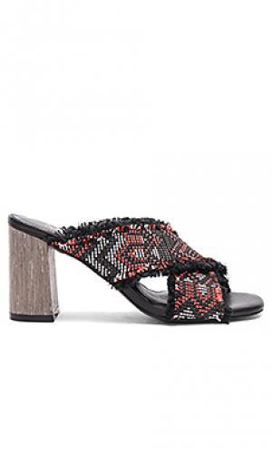 Туфли-мюли на низком каблуке sandstorm The Mode Collective. Цвет: черный