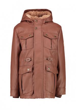 Куртка кожаная LC Waikiki. Цвет: коричневый