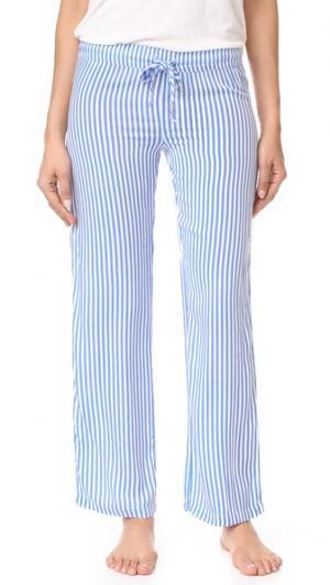 Летние пижамные брюки в полоску PJ Salvage. Цвет: деним