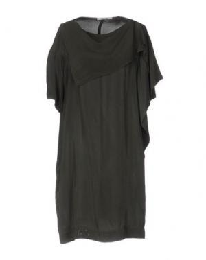 Короткое платье OBLIQUE CREATIONS. Цвет: свинцово-серый