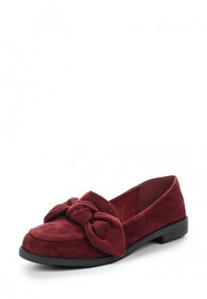 Лоферы Ideal Shoes. Цвет: бордовый