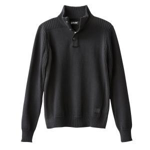 Пуловер крупной вязки SCHOTT. Цвет: серый меланж,синий морской,черный