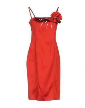 Платье до колена KRIZIA. Цвет: красный
