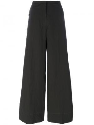 Широкие брюки Lemaire. Цвет: серый