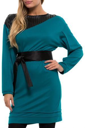 Платье Gloss. Цвет: зеленый, черный